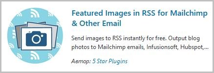 Featured images in RSS plugin.